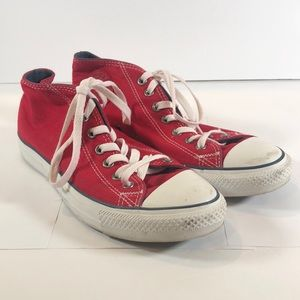 Converse All Star Red High Top Canvas Mens 9